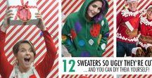 Ugly Christmas Sweater Ideas / Ugly sweater party!? We've got you covered! The BEST Ugly Christmas Sweater Ideas, how to DIY ugly Christmas sweaters, and so much more, using craft supplies like Tulip Slick Dimensional Paint.