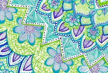 Tangling like a fool / I really like Zentangle art. Doesn't require skill (which I lack). Anyone can make lines and squiggles and crate something impressive.  / by Darcie Gudger