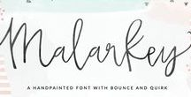 HAND LETTERING / Fonts, calligraphy, and hand lettering inspiration for your business.