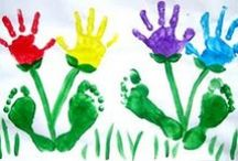 Handprint + Footprint Crafts / Handprint, footprint, and fingerprint crafts. Preserve those precious prints forever with these creative crafts for kids.