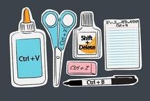 Škola - ICT výuka  // School - ICT / něco inspirace do hodin ICT