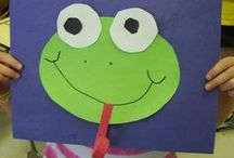 Frog Unit (MFW K) / Learning activities to use when doing the Frog unit in My Father's World Kindergarten (MFW K). Tadpoles, frogs, and frog life cycle activities, snacks, ideas, crafts for kids