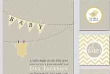 Chevron Pennant Neutral Baby Shower