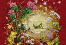 Sewing: embroidery, cross-stitching, mending, smocking...