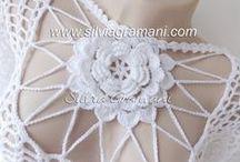 Blusa Ana Maria com Flor no Decote / Blusa em linha de algodão