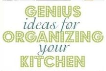 "Kitchen Organization / ""An organized kitchen makes an expert chef."""
