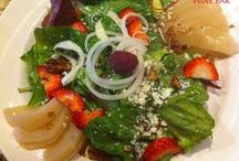 Yves' Salads / Some of our delicious salads that we feature on our menu.