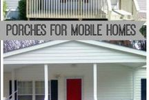 Porch Perfection / Porches and decks for manufactured homes, remodeled porches, DIY porch renovations and great ways to increase curb appeal and home value.