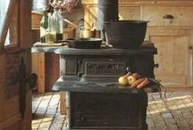Country Kitchens / kitchens, farmhouse kitchens, rustic kitchens, cozy kitchens, kitchen decor, kitchen tips / by Jill @ The Prairie Homestead