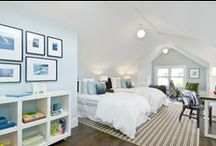 Home - Attic/Loft / Was suppose  to be a master bedroom, now turned into guest room & hubby's dressing room / by Grace Pugh
