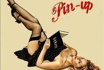 """Pin&Up... /  A pin-up girl,also known as a pin-up model or cheesecake,is a model whose mass-produced pictures see wide appeal as popular culture.Pin-ups are intended for informal display,e.g. meant to be """"pinned-up"""" on a wall.Pin-up girls may be glamour models,fashion models,or actresses. The term was first attested to in English in 1941 however,the practice is documented back at least to the 1890s."""