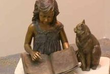 Bronze & Other Sculptures / A sampling of reading-related statues/sculptures we love.