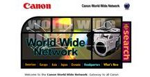 Canon timeline 1998 – 2016 / Look through the development of Canon websites on a timeline.