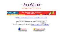 AltaVista timeline 1996 – 2004 / Look through the development of AltaVista websites on a timeline.