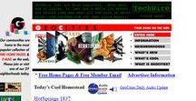 Geocities timeline 1996 – 2001 / Look through the development of Geocities websites on a timeline.