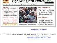 The New York Times timeline 1996 – 2016 / Look through the development of The New York Times websites on a timeline.