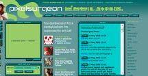 Pixel Web Design 1996 – 2005 / Old pixel art websites for retro layout inspiration