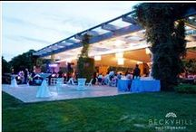 McGinley Pavilion :: Reception / Our most popular and beautifully tented, heated outdoor pavilion