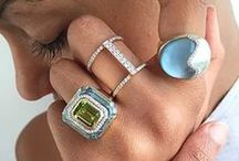 Rings / Rings by Kara Ross New York.  18k yellow gold, precious gemstones and diamonds.