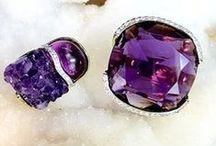 February Birthstone - Amethyst / Fine jewelry featuring the gemstone amethyst. / by Kara Ross New York