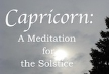 Winter Solstice Video / The 10.5-minute HD video Capricorn: A Meditation for the Solstice combines art, music, and narration to tell the story of the Capricorn Solstice--the day of least daylight each year in the northern hemisphere. Here are some images from the video, along with links to articles about it and to the video itself.