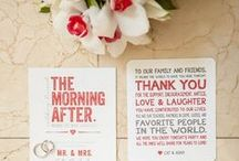 Wedding Stationery / Wedding stationery inspiration for your big day including invites, programs, save the dates and menus / by My Hotel Wedding