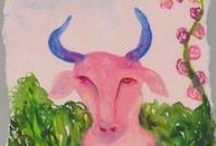 Art for Taurus / Painting, photography, and other artworks related to the astrological sign Taurus and its symbols…plus a bit of writing about the sign of the Bull.