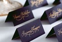 Escort Cards, Place Cards and Seating Charts / Inspiration for arranging and displaying your wedding escort cards, place cards and seating chart