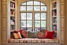 Book Nook / To read a book would be an awfully big adventure....