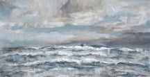 my seascapes / Recent land and seascape paintings