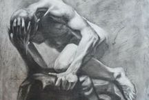 Art Figure Drawings and Sketches / Figure drawing inspiration photos, drawings or sketches for practice. In pastels, ink, charcoal or graphite. / by Martha Smith Ⓥ
