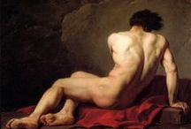Art Neoclassical 1750-1880 / Late Neoclassicism in European Art and Design, 1780–1830. In the wake of the French Revolution in 1789, Napoleon Bonaparte's adoption of Neoclassicism as an official imperial style, coined the Empire style, contributed to the popularity of Neoclassical ideals in France and its imitation by European rulers. The curvilinear silhouettes that had dominated the decorative arts were replaced by rectilinear lines, incorporating ancient motifs. / by Martha Smith Ⓥ