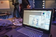"""Event: Hakus venue in Paris / Conference about """"The Place of the illustrator in the Japanese Video game industry"""" with Mr Suzuki from Nippon Ichi Japan, followed by Live Performance by illustrator Hakus and Vernissage of the AOJI Exhibit"""