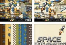 Space Exploration - Digi Scrapbook Kit