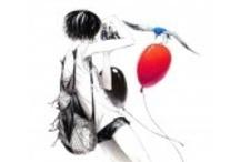"""Sousou - Japanese Illustrator / An AOJI Artist ! """"Quand un mot m'interpelle, je me focalise dessus et, à partir de celui-ci, je conceptualise mon œuvre.  Tout d'abord, je dessine la maquette en monochrome et je finalise le tout par ordinateur. Je dessine ensuite chaque élément du dessin avec beaucoup de d'attention... """""""