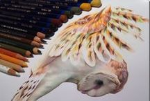 Art Colored Pencils & Markers / Artwork done with colored pencils and or markers / by Martha Smith Ⓥ