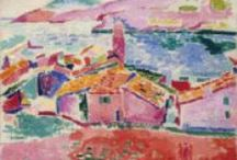 Art Fauvism 1904-1908 / Fauvism was the first of the avant-garde movements that flourished in France in the early years of the twentieth century. The Fauve painters were the first to break with Impressionism as well as with older, traditional methods of perception. Their spontaneous, often subjective response to nature was expressed in bold, undisguised brushstrokes and high-keyed, vibrant colors directly from the tube. / by Martha Smith Ⓥ