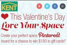 Love Your Space! / This Valentine's Day, Love Your Space! Create your perfect Pinterest Board by February 19th, 2015, for a chance to win $180 in gift cards.