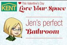 Jen's Perfect Bathroom / This Valentine's Day, Love Your Space! Here are Jen's ideas for a perfect bathroom. #loveyourspace