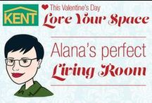 Alana's Perfect Living Room / Alana's ideas for a perfect living room. #loveyourspace