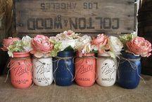 """Mason Jars of wonder / Mason jars are a beauty / by Leslie """"Mo"""" Porche-Smith"""