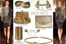 SOLID GOLD / Nothing brings the clean look to everyone's full attention like a shot of good old fashioned Solid Gold.  Gold never leaves you out of style and never lets you down whether your working in bracelets or belts, necklaces or rings you are sure to knock um dead with your arsenal of killer vintage accessories.  Don't let the Gold Rush pass you by this season. Nothing could be easier than slipping a little bit of metal magic on to bring home the gold. / by juleVintage / theSTYLEARMORY