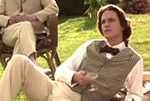 Wilde / 1996: Biographical film - Story of Oscar Wilde (Stephen Fry) whose self-realization of his homosexuality caused torment as he juggled marriage. It was James D'Arcy's first feature film debut as Oscar & Bosie's (Jude Law) friend. Filmed sometime (24 Aug - 06 Nov 1996) at Houghton Lodge, Stockbridge, Hampshire, England. Screened in 1997 Film Festivals: (AFM, Edinburgh, Venice, Dinard, Hamburgh)  In Cinemas: 01 Sept 1997 (UK) / 03 May 1998 (USA)