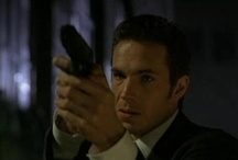 """THEM / 2007: FOX Sci-fi TV Pilot based on the graphic novel """"Six"""" by Michael Oeming. Centers on an extraterrestrial sleeper cell that has infiltrated the human race. Their enforcer, Cain (James D'Arcy) arrives to hunt down a rogue agent infected with human emotions. Filmed (19 - 31 March 2007) at CBS Studio Center & Universal Studios in L.A. Pilot not ordered to series but might have been aired in 2007 as a TV Movie"""