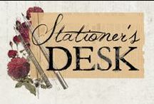 Stationer's Desk / Stationer's Desk has a rich, vintage color palette with old-time touches sure to invoke those nostalgic memories that just warm your heart.