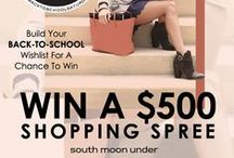 Back to School Wishlist / What's on your Back to School Wishlist? Visit http://bit.ly/1igoufr for a chance to win a $500 shopping spree! #BTSS / by South Moon Under