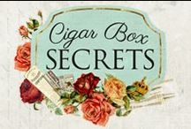 Cigar Box Secrets Collection / Cigar Box Secrets: Open up the box to reveal mysterious vintage tones, handsome masculine objects, and beautiful feminine touches. With unique graphics, and a fabulous color palette, this line is sure to offer old-time beauty to any project.