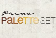 Prima Palette Marker Sets / Each alcohol-based marker is beautifully designed to fit comfortably in your hand, while offering two versatile tips...for wide swipes of pigment with the blunt wedge tip, to precise outlining with the fine, soft tip.