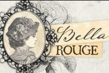 Bella Rouge Collection / Gorgeous floral imagery and a luscious color palette (that will simply take your breath away) combined with creamy yellow, deep rose red, olive green, and fresh sea-blue that will take your imagination and creativity to new heights! A fun, BEAUTIFUL and timeless collection filled with fond memories of old...Bella Rouge!