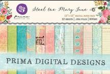 Digital Designs by Prima / Download and print some of Prima's classic collections to personalize your projects.